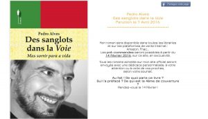 Pedro Alves - Des sanglots dans la Voie