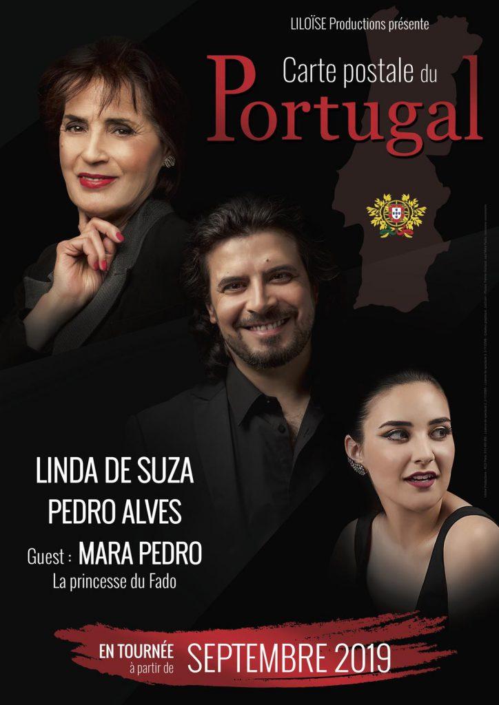 pedro alves, Mara Pedro, Linda De Suza, Carte postale du Portugal