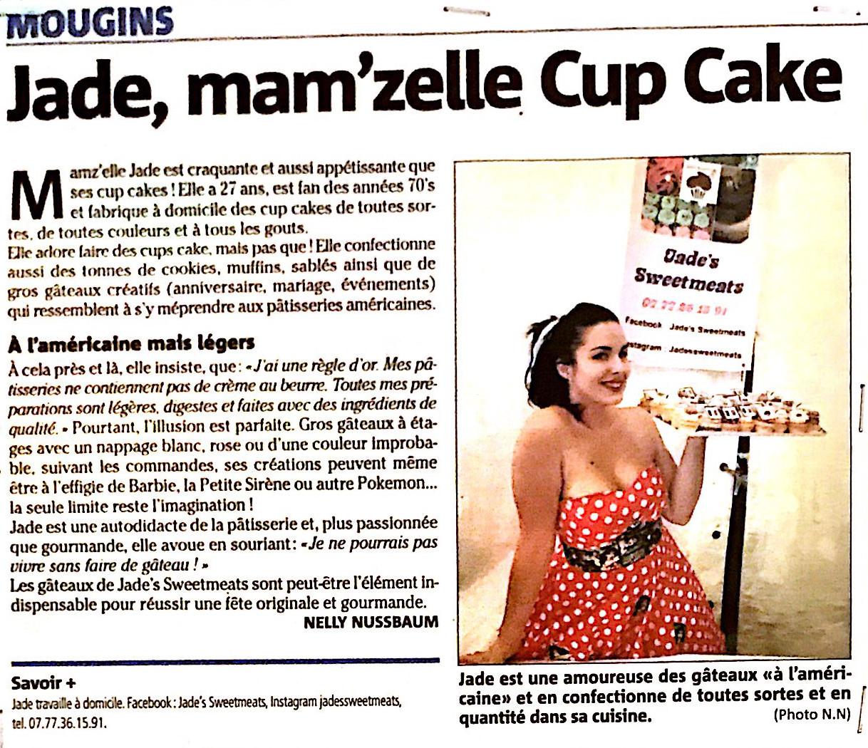Jade, mam'zelle Cup Cake - Nice Matin