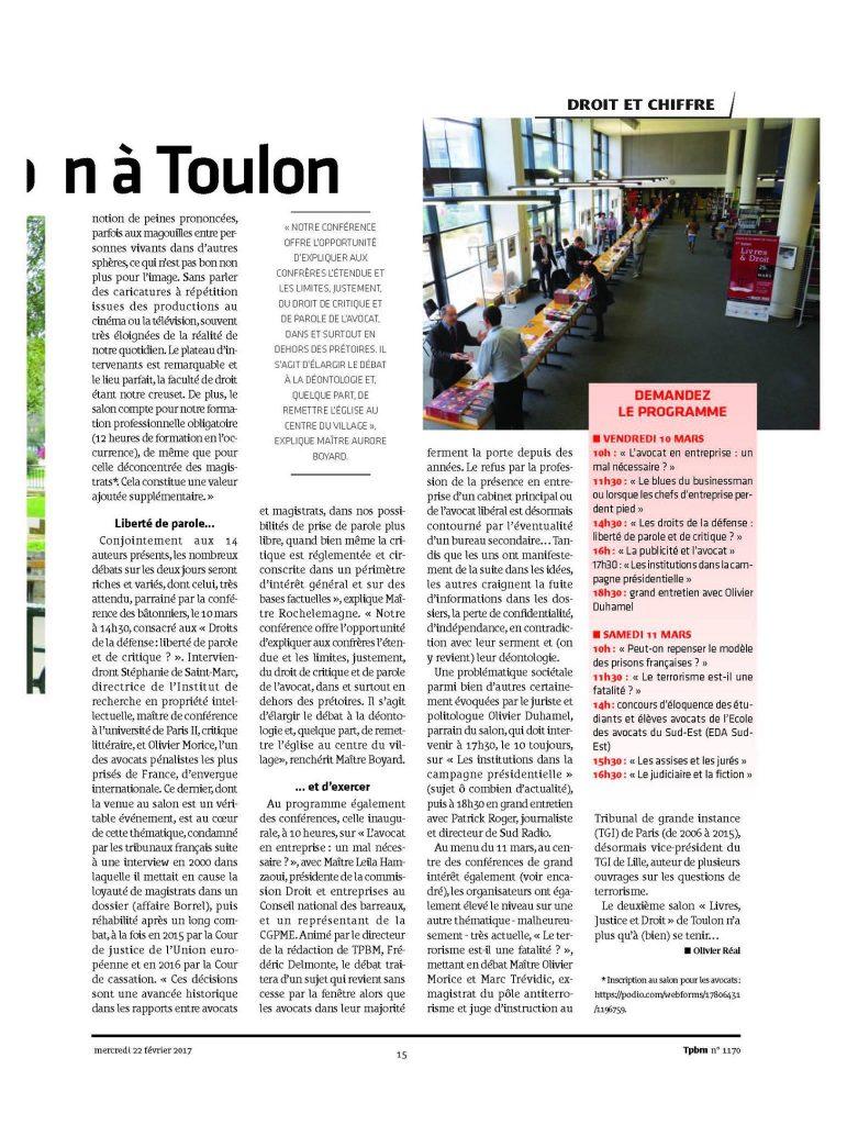 Le droit livre son salon à Toulon