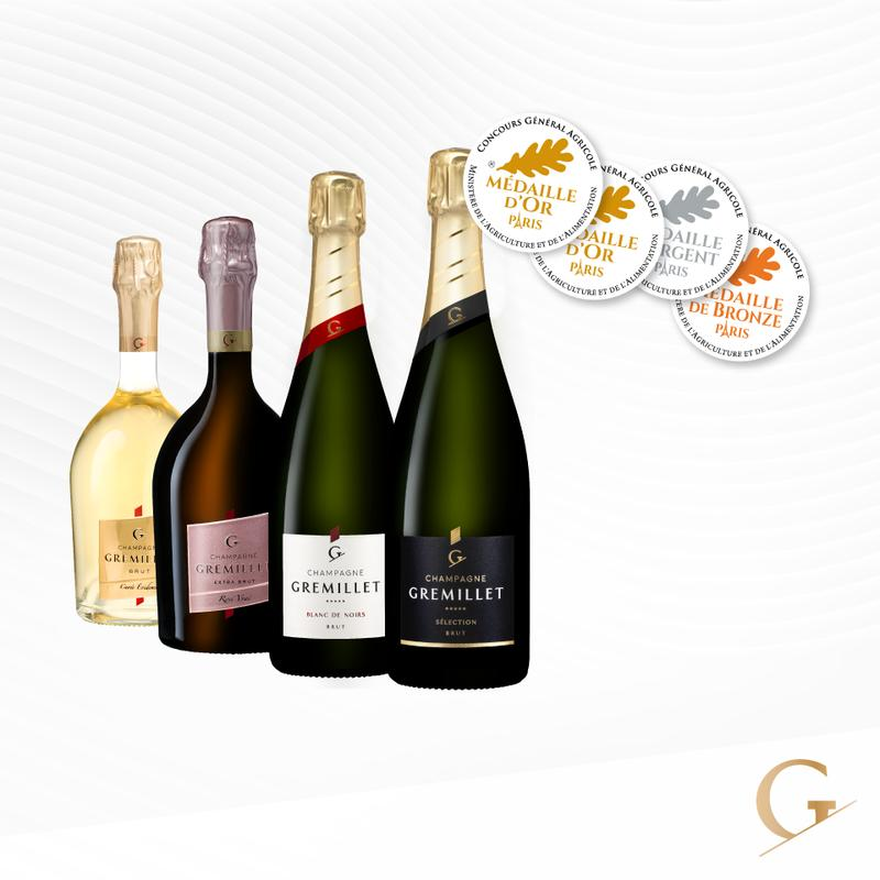 Champagne Gremillet - Médailles au concours agricole 2019