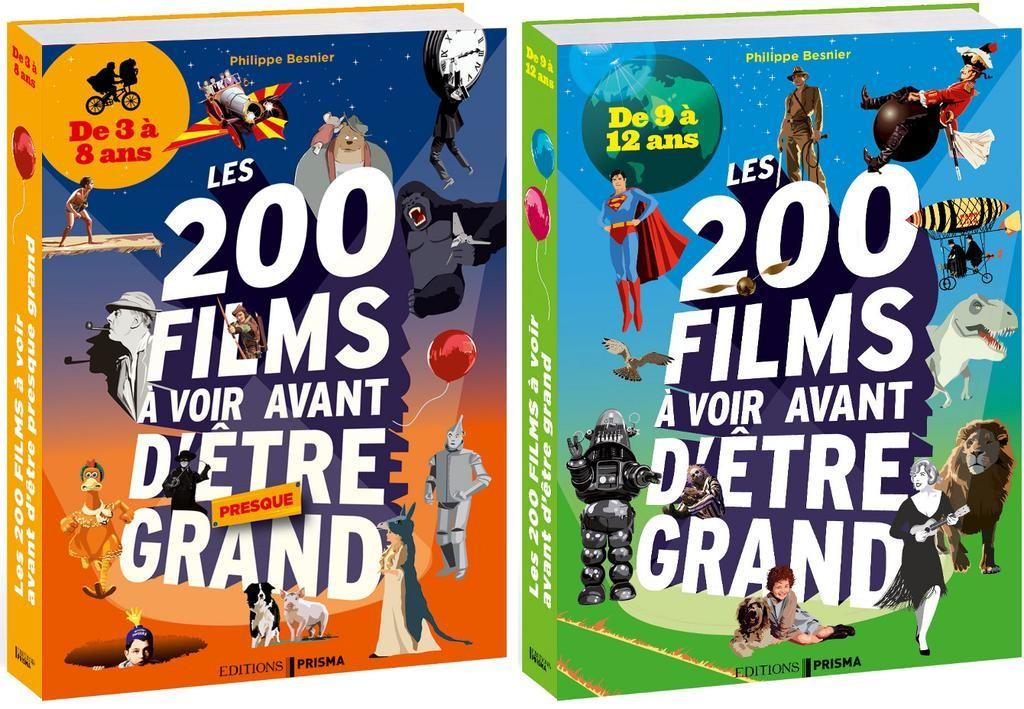 Philippe Besnier - couverture livres 200 films, de 3 à 8 ans et de 9 à 12 ans